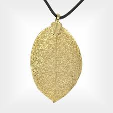 gold dipped 24k gold dipped leaf pendant is a