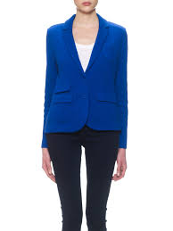 north face lixus jacket whistles lena textured jersey jacket in blue lyst