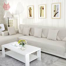 Designer Sofa Slipcovers Linen Slipcovered Sectional Sofa Centerfieldbar Com