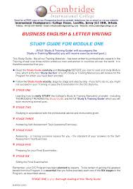 english business letter writing