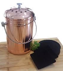 amazon com compost pail bin bucket for indoor kitchen countertop