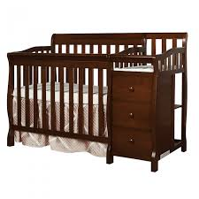 Espresso Baby Crib by Jayden 4 In 1 Mini Convertible Crib And Changer Dream On Me