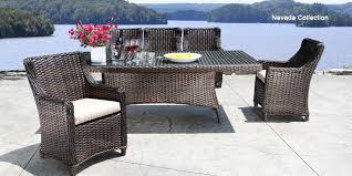 Wicker Patio Table And Chairs Pleasant Design Wicker Patio Table Outdoor Furniture Santa Barbara