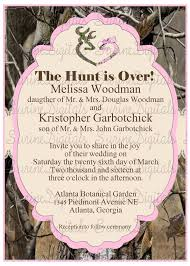 camouflage wedding invitations pink and camo wedding invitation with buck and doe heart