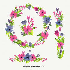 watercolor floral wreath and flowers ornaments vector premium