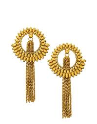 trendy gold earrings buy bindhani traditional trendy gold plated chain tassel