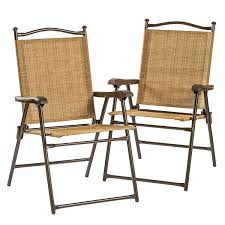 Sling Outdoor Chairs Amazon Com Greendale Home Fashion Outdoor Sling Back Chairs Set