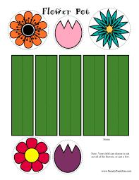 7 best images of printable flower crafts printable flower