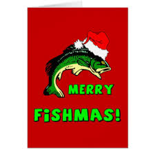 funny fishing christmas greeting cards zazzle