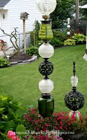 Glass Garden Art Somewhat Quirky How To Build A Glass Globe Totem