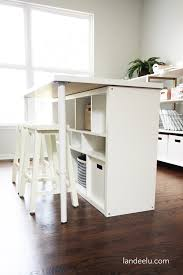 Craft Desk With Storage Ikea Hack Craft Room Work Table Landeelu Com