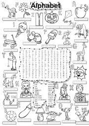 alphabet wordsearch and letter tiles