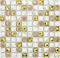 Gold Items Crystal Glass Mosaic Tile Wall Backsplashes by White Porcelain Wall Tiles Backsplash Pcmt097 Yellow Gold Ceramic