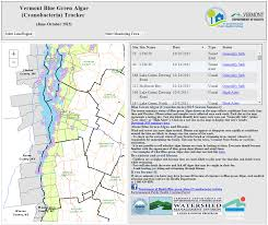 Vt Map Cyanobacteria Blue Green Algae Tracker Vermont Department Of