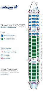 Air China Seat Map by Malaysia Airlines Aircraft Seatmaps Airline Seating Maps And Layouts
