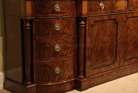 Sideboards For Dining Room Large Regency Style Flame Mahogany Sideboard Or Credenza