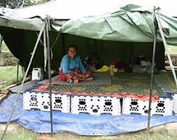 tent platform distributing multi purpose platform to earthquake survivors in nepal