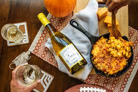 cupcake vineyards chardonnay paired with pumpkin bacon mac n