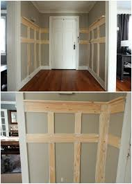Inexpensive Wainscoting Walls How To Diy Very Simple Very Inexpensive Very Nice