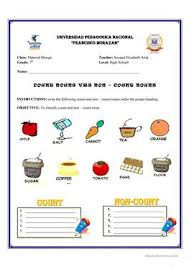 1 free esl count and non count nouns countable and uncountable