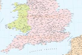 Wales England Map by Digital Vector British Isles Map Basic Country Level 5 000 000 Scale