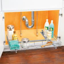 lynk under cabinet storage lynk professional u shaped roll out under sink drawer pull out