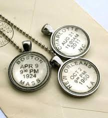 custom engraved necklaces custom personalized necklace postmark style custom children s