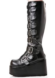 s boots with buckles demonia concord buckle platform boots dolls kill