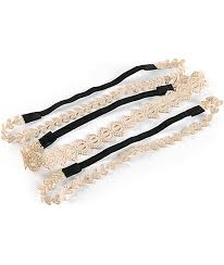 lace headbands white gold lace headbands zumiez