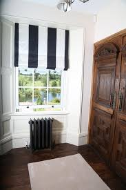 black and white stripe blind www suescammellinteriors co uk