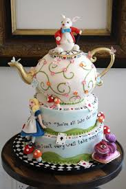 Kitchen Tea Cake Ideas Alice In Wonderland Bobbetteandbelle Com