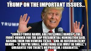Raising Hand Meme - trump on his hands donald trump s small hands know your meme