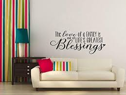 letters for home decor wall décor plus more love of family blessing family wall decals