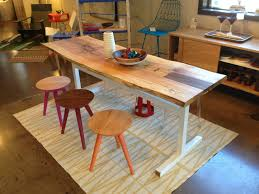 Natural Slab Dining Table Hand Made Natural Live Edge Dining Table Spalted Maple Set On