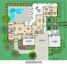 home floor plans mediterranean baby nursery italian house plans sardegna courtyard floor plan