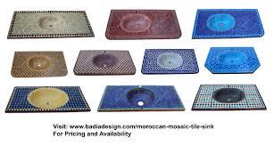 moroccan tile bathroom moroccan mosaic tile sink from badia design inc moroccan tiles