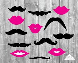 Wedding Photo Booth Props Mustaches And Lips Photobooth Props Wedding Photo Booth