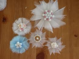 tulle flowers tulle flowers tutorial and easy