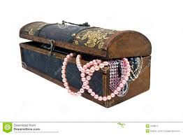pearls in treasure chest stock images image 7938874