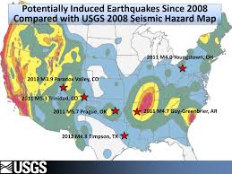 Earthquake Map Usgs Rocking Oklahoma Fracking And Earthquakes Nj Com