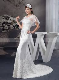 trumpet wedding dresses trumpet wedding dress with removable bolero and appliques