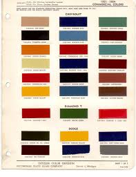 Best Color Codes by Paint Chips 1951 Dodge Truck Fleet Commercial