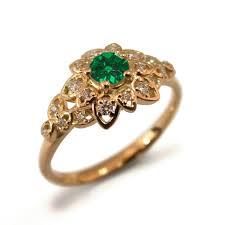 gold emerald engagement rings terrific gold and emerald engagement rings 29 for decor