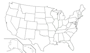 printable united states map blank us map template