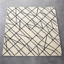 Area Rug Patterns Line Work Rug 6 U0027x6 U0027 Wool Patterns And Piles