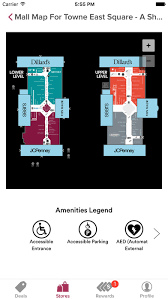 towne east mall map app shopper towne east square powered by malltip shopping