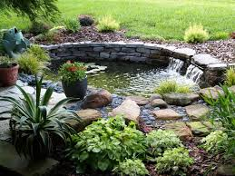 Ideas For Very Small Gardens by Backyard 12 Garden Pond Design With Stoned Block Ideas And