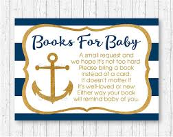anchor baby shower nautical anchor baby shower book request cards nautical baby