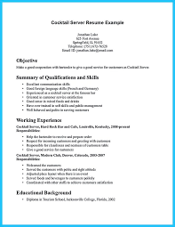 Server Resumes Samples by Bartender Resume Examples Extraordinary Bartender Resume Sample