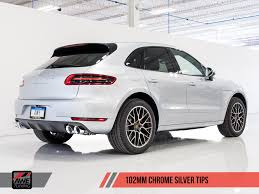 porsche macan turbo white awe tuning porsche macan turbo exhaust suite awe tuning